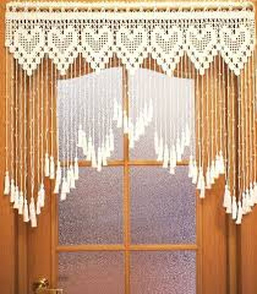 Cute white pattern curtain