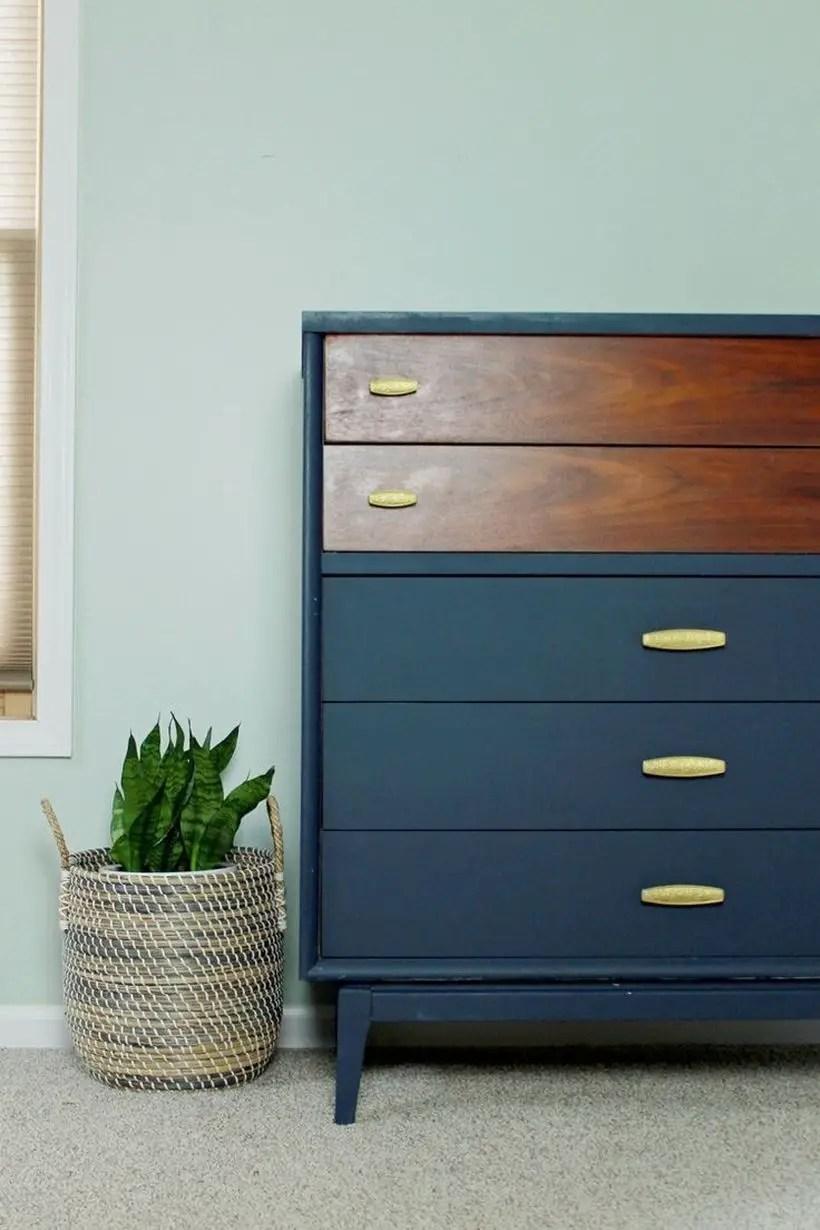Dark blue with tiered drawer