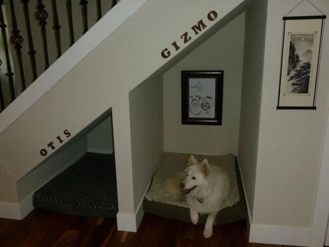 Dog house under stair