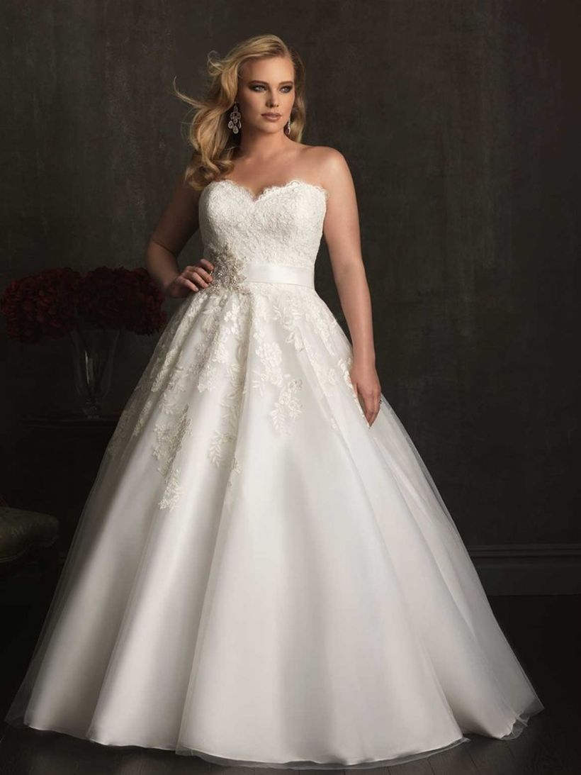 Elegant white ball gown dress for your once in a lifetime moment you must try
