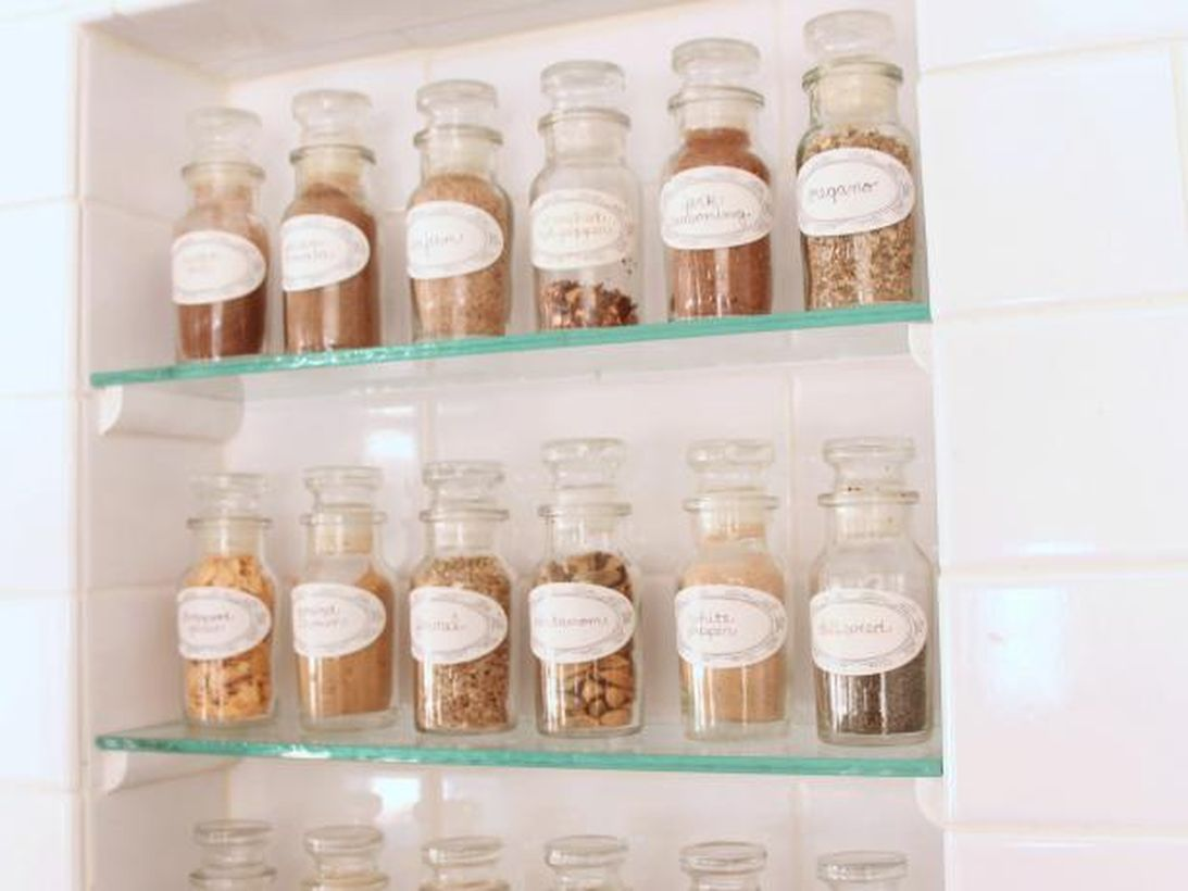 Glases graded spices organizer