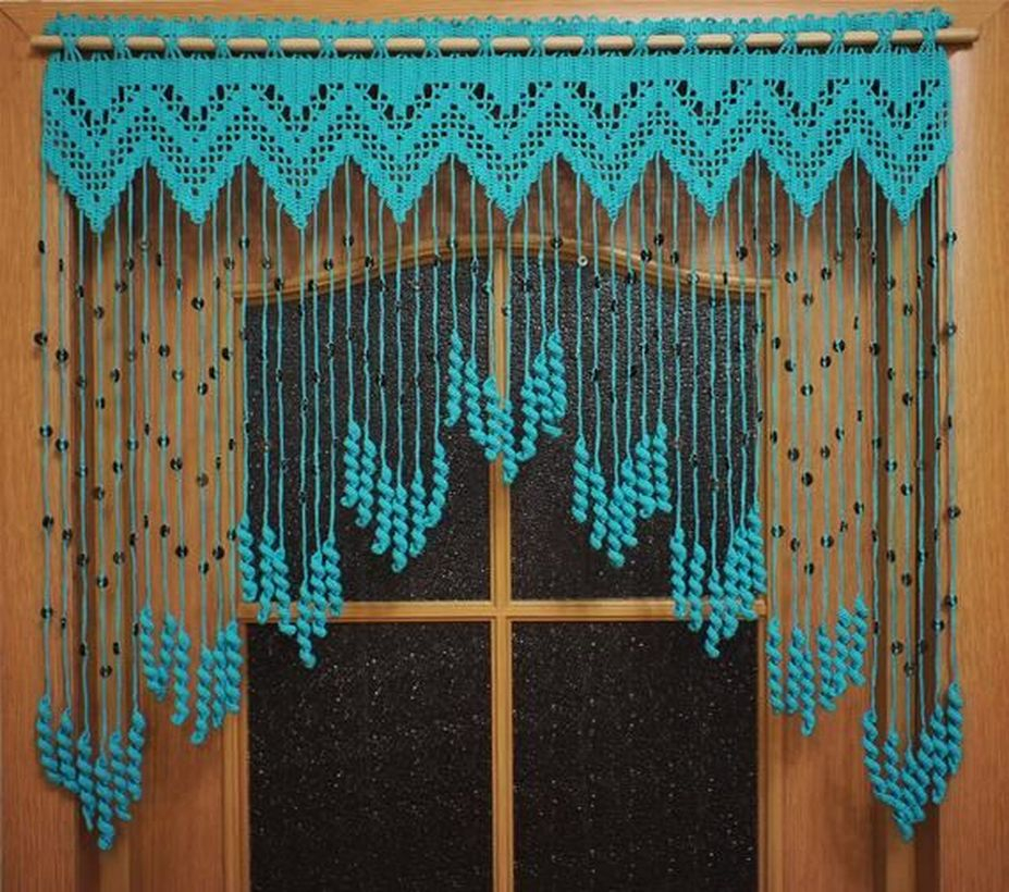 Light blue curtain