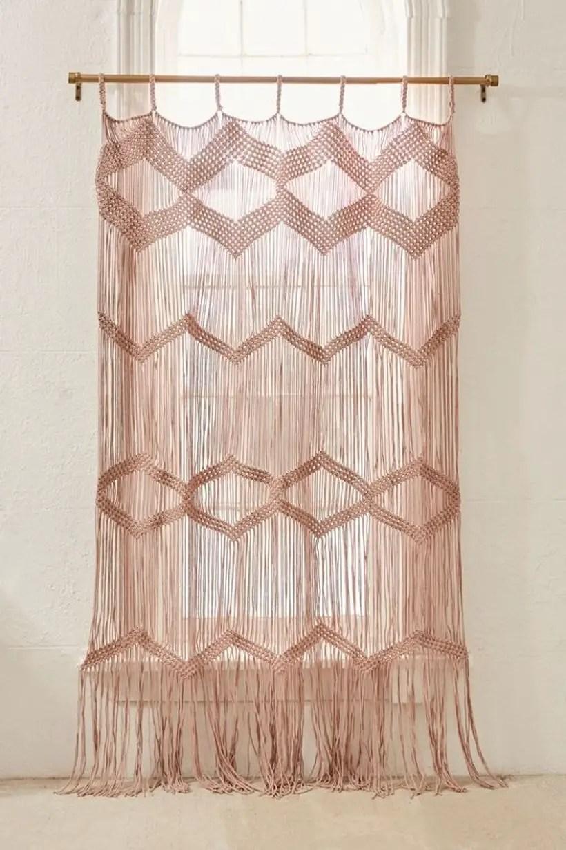 Pink pattern curtain