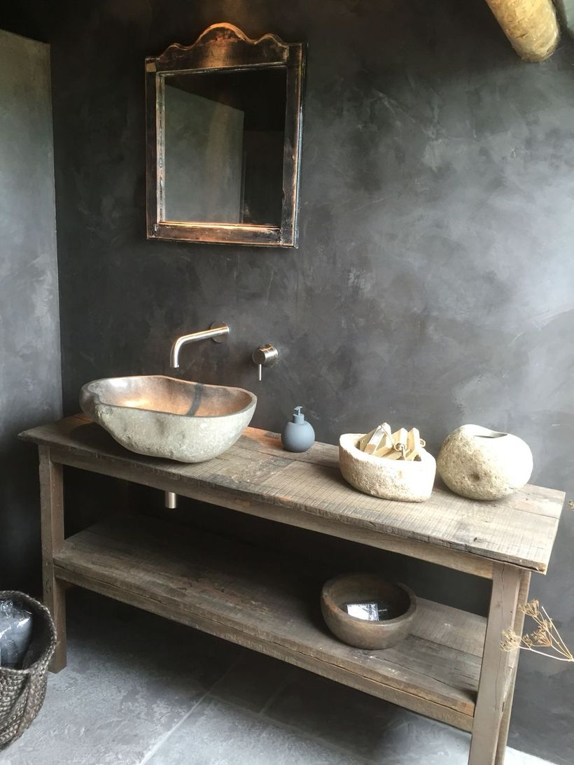 Simple wooden table sink
