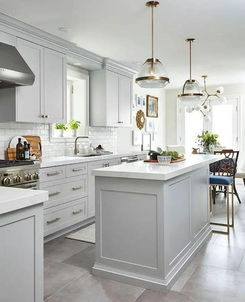 Small white countertop design