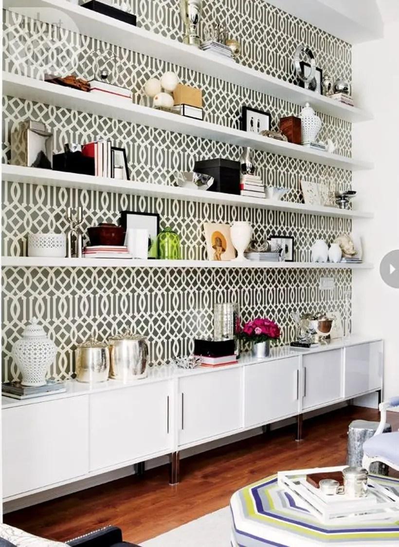 Smart white bookshelves design