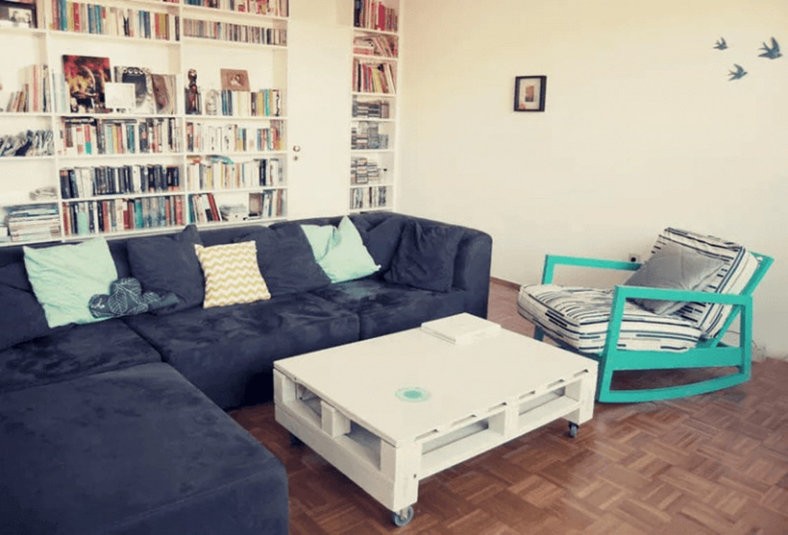 Square white coffee table