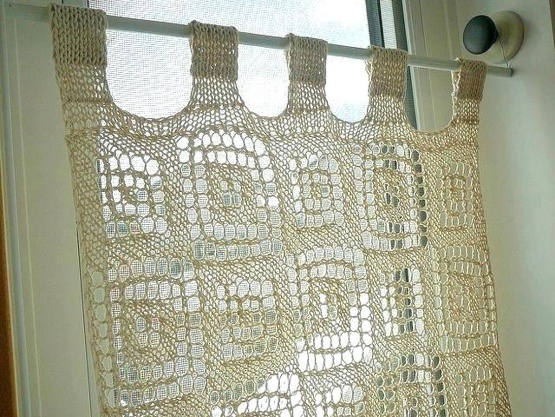 Square white pattern curtain ideas