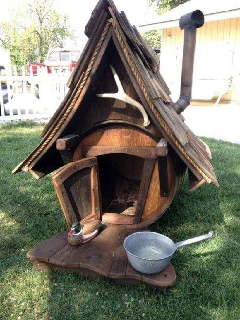 Unique rustic dog house