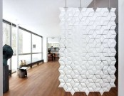 Unique white sliding glass room dividers