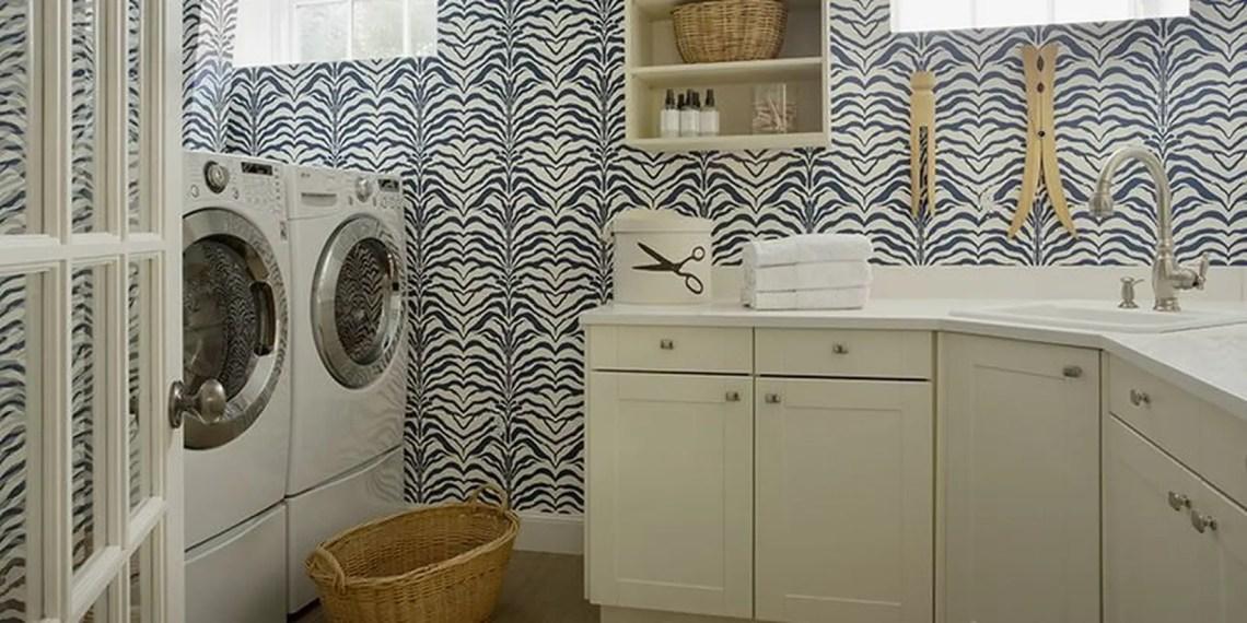 Washing machine with basket storage and white rack