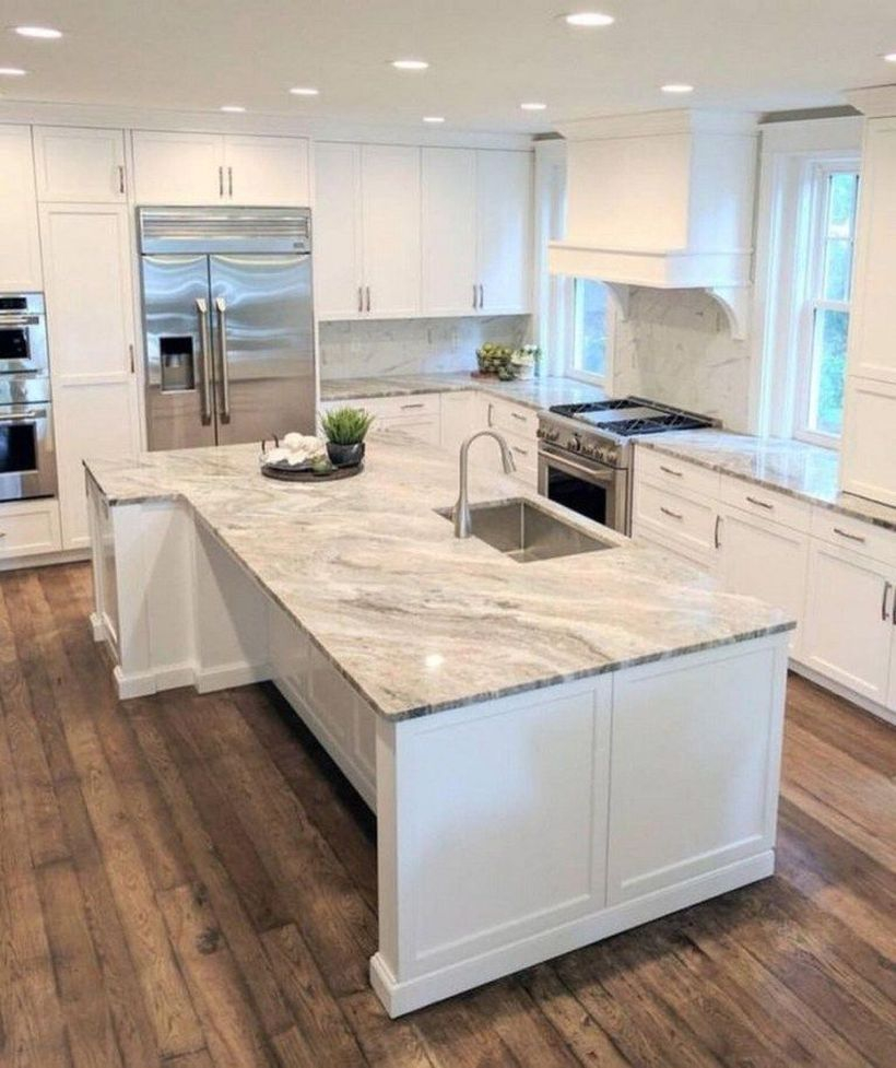 White marble countertop design with sink