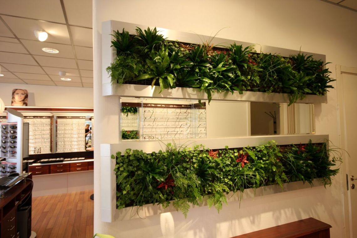 White vegetable room divider