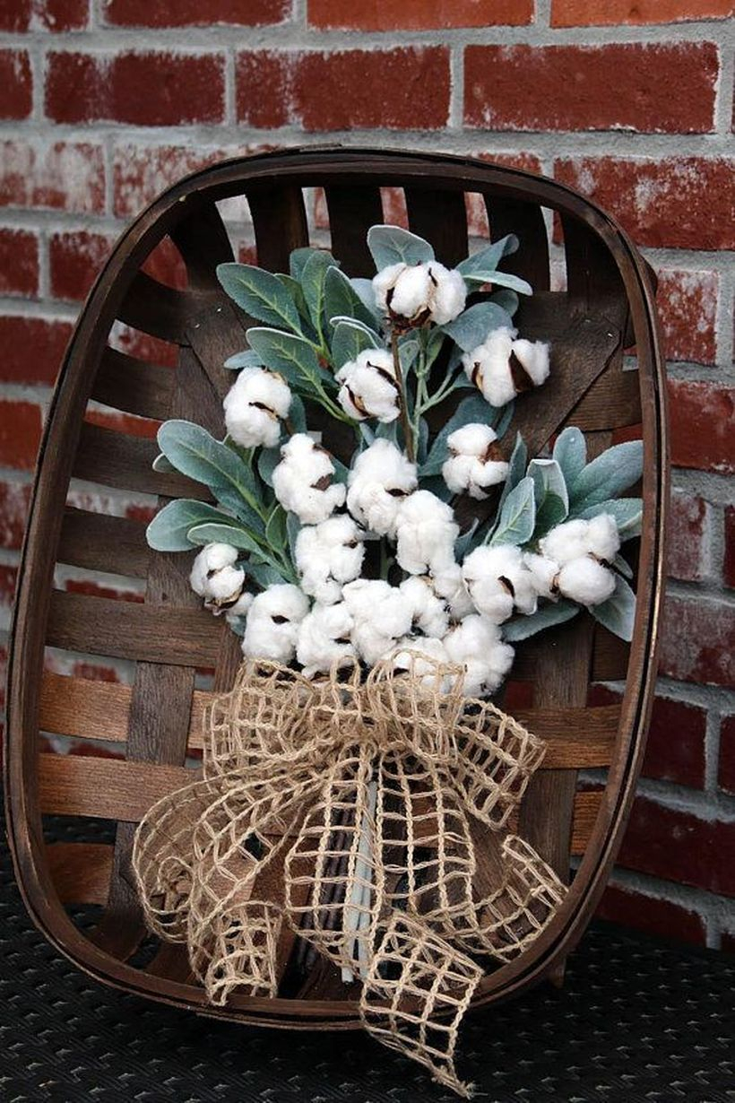 Wooden basket to store bucket flower