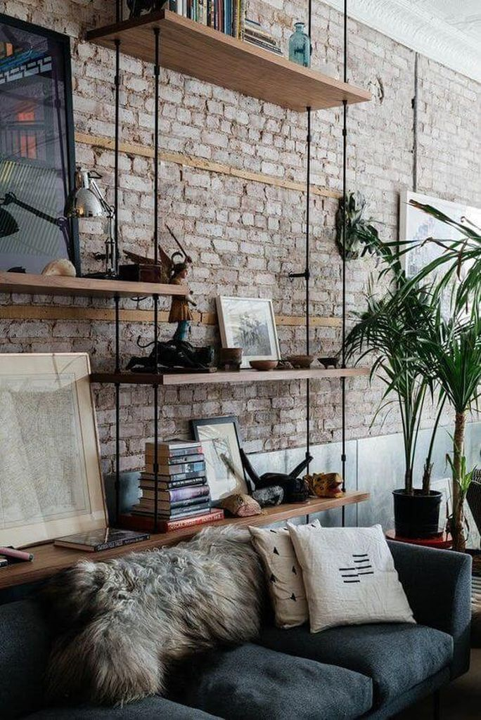 Diy shelves to perfect your living room