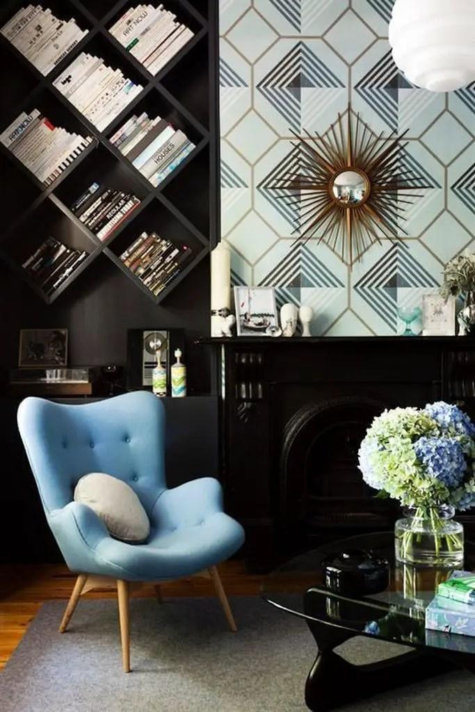 Dark shelf to organize your home living room