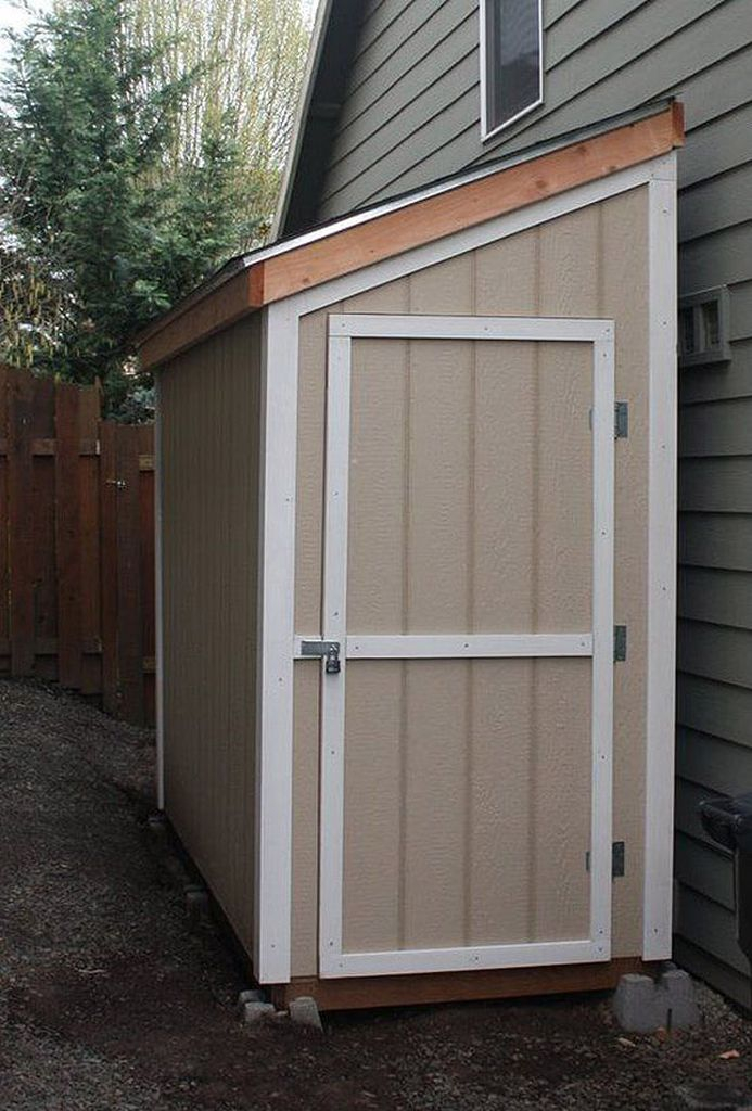 Half-size storage shed for backyard