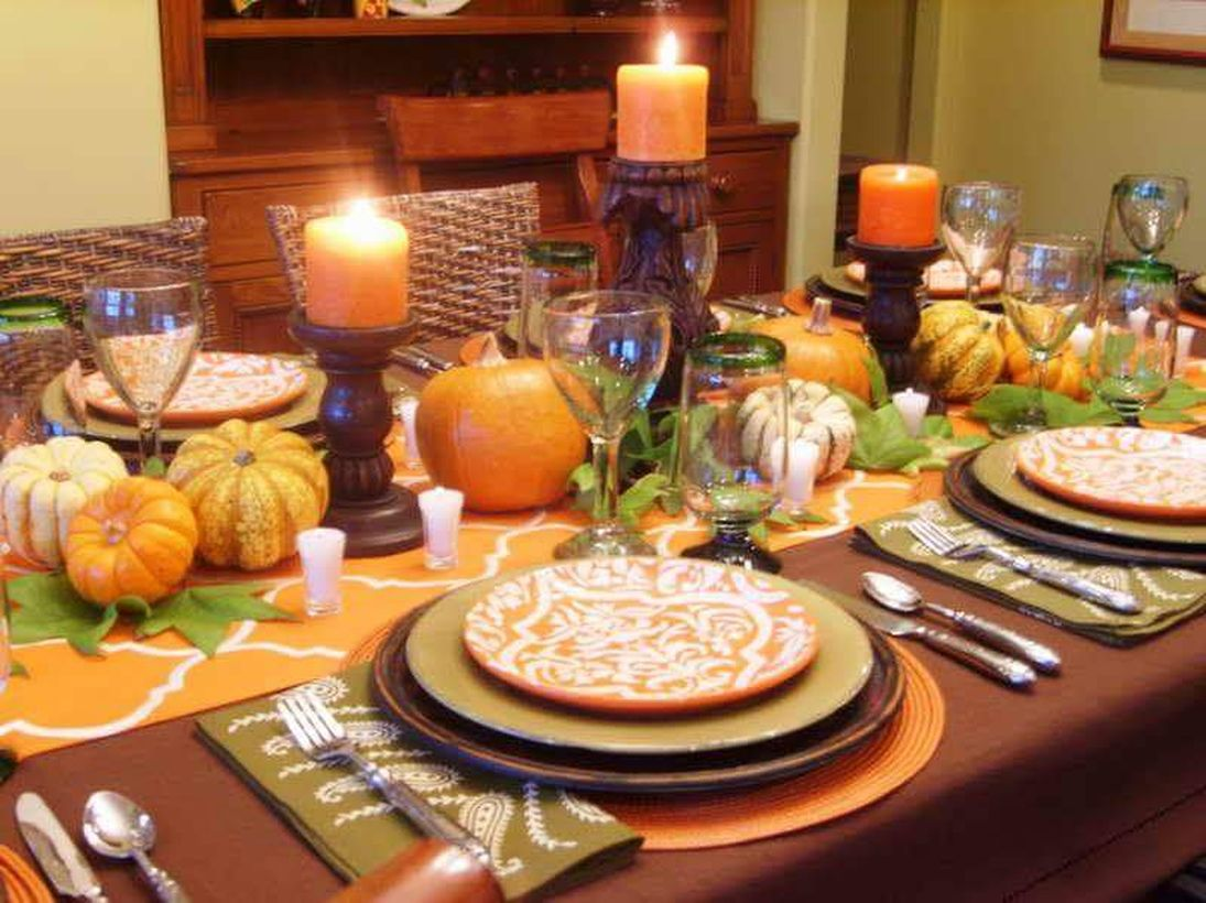 33 Pretty Dining Table Decorations For Thanksgiving Dinner