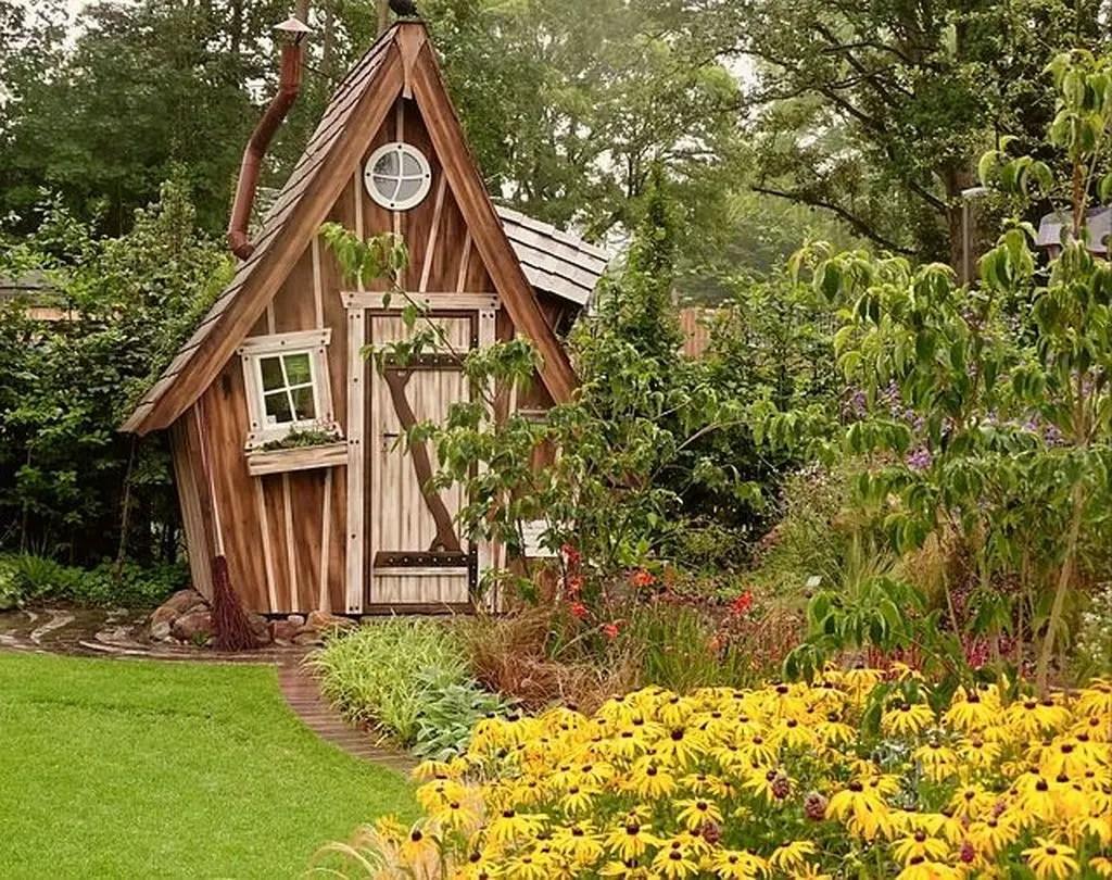 Unique wooden shed design