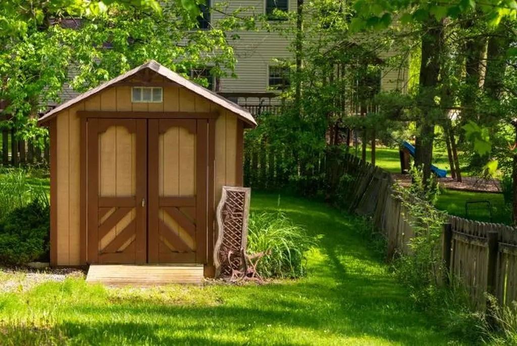Wooden backyard barn