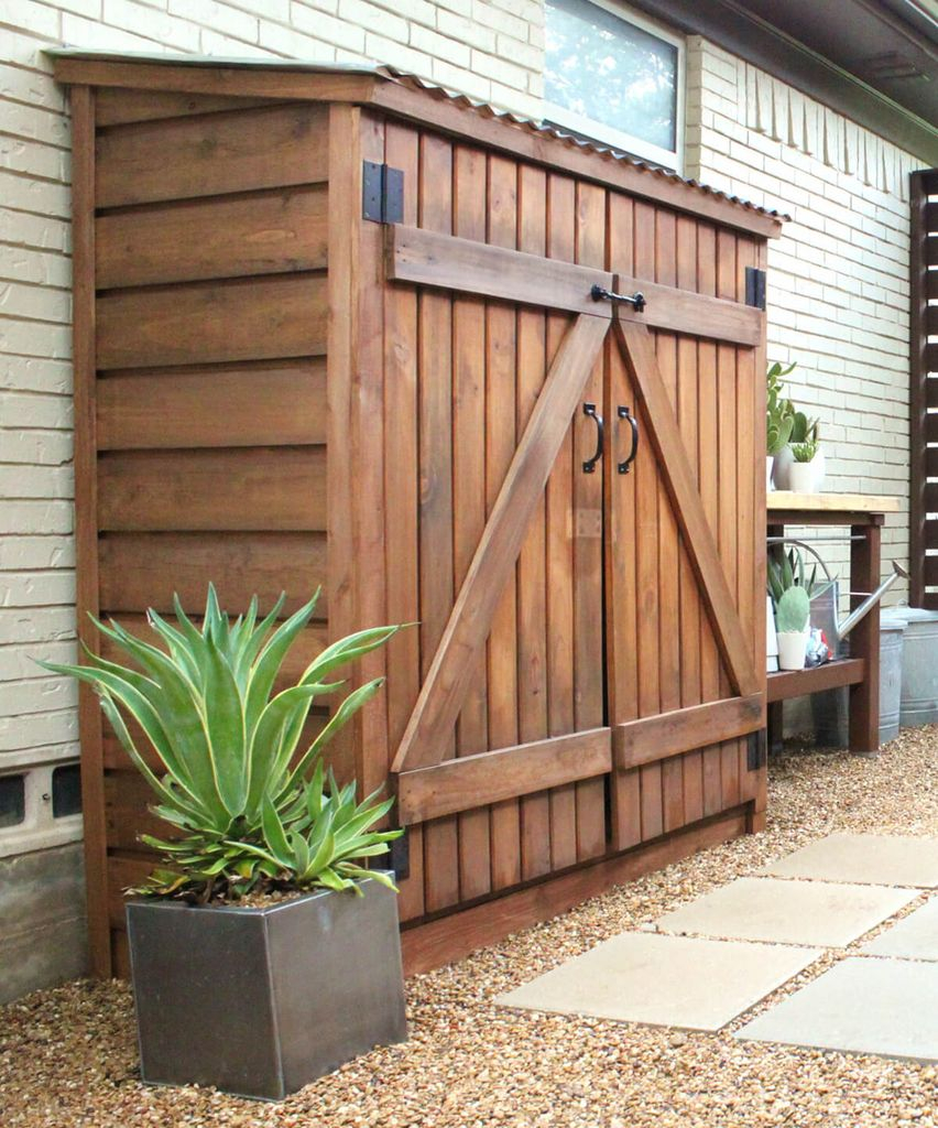 Wooden small storage shed ideas