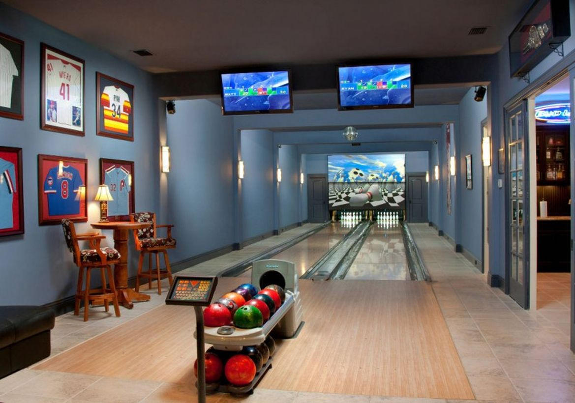 Basement for bowling rooms