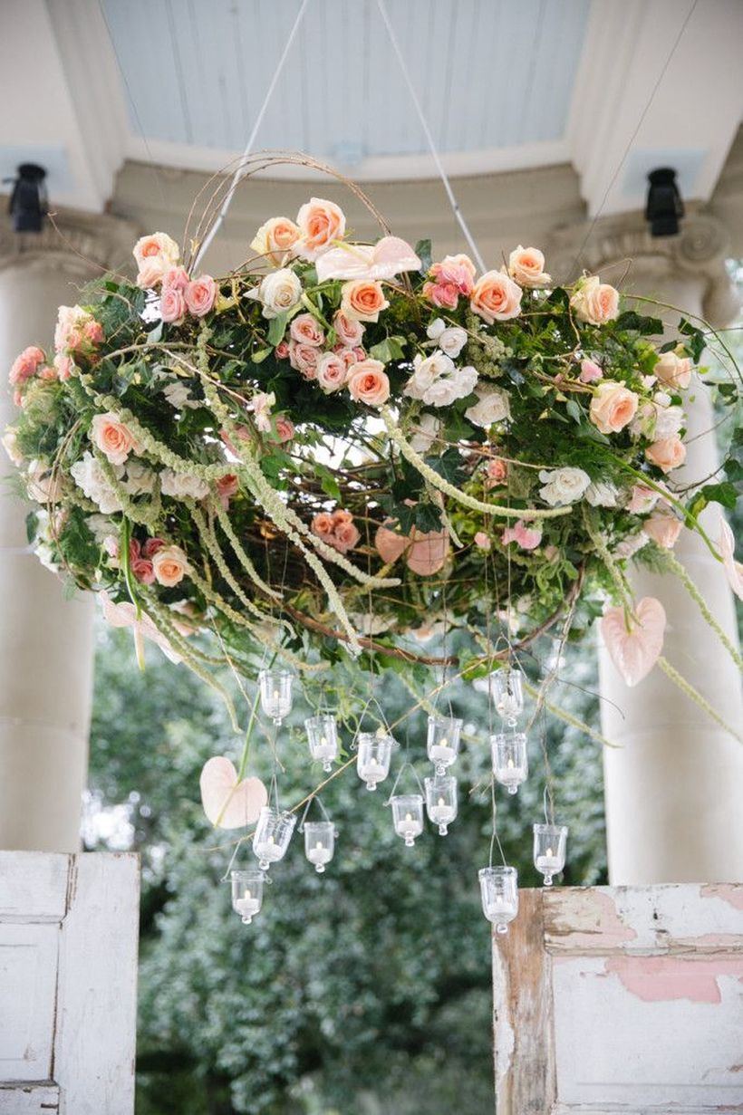 Boho flower chandelier ideas