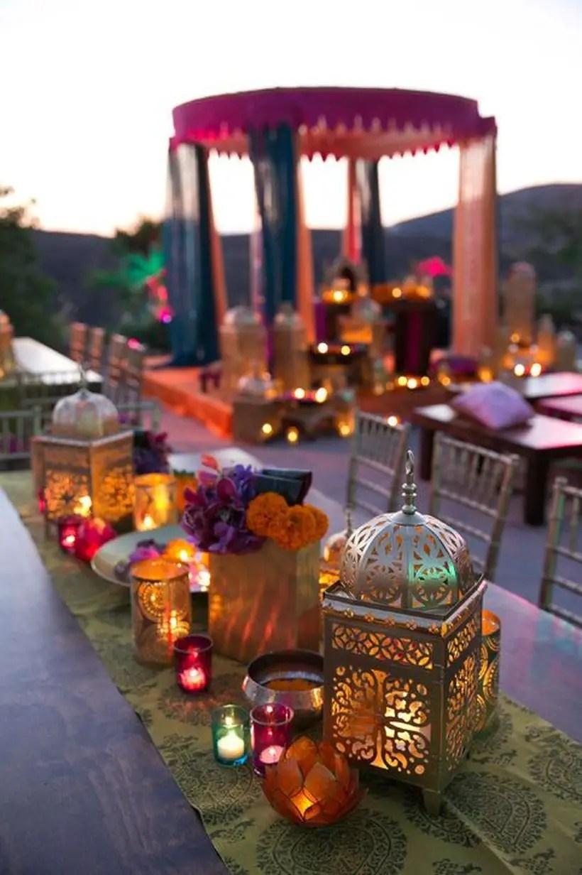 Boho moroccan lanterns canterpice