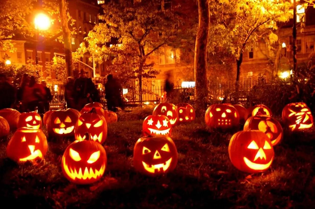 Decorative lighting with pumpkin