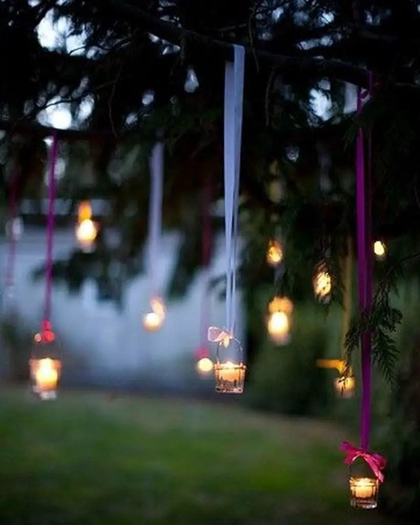 Hanging boho tealights decoration