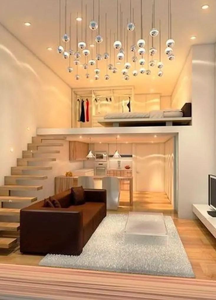 An elegant loft bedroom design