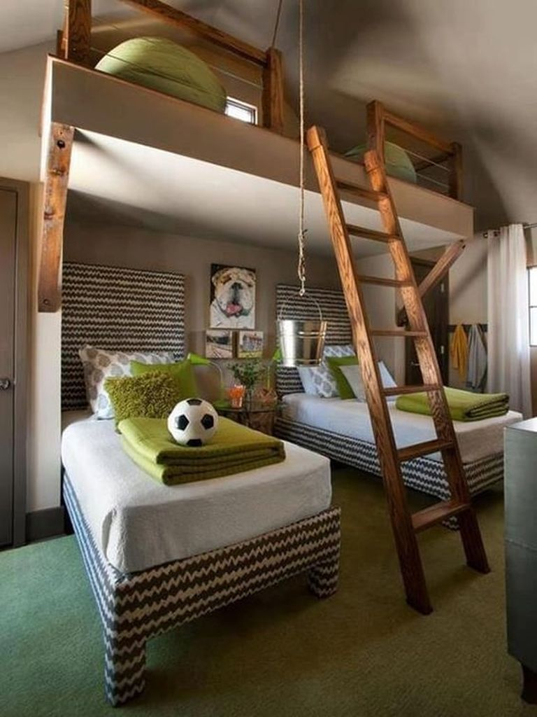 Bunk over two beds for samll apartment
