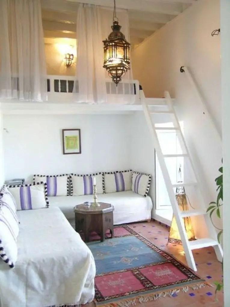 Decorative lighting for loft bedroom