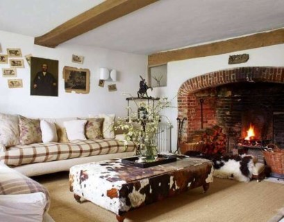 Large fireplace to keep warm your living room