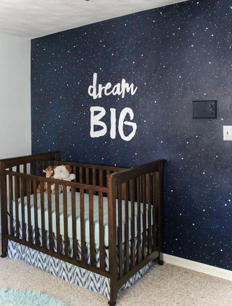 Paint-an-inspirational-night-sky-mural-for-your-kids-room.