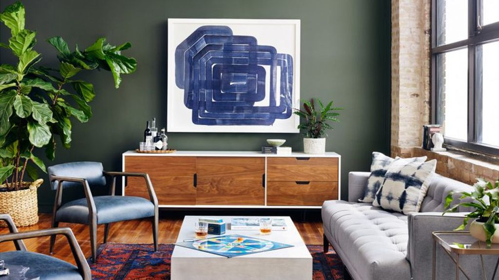 Blue-abstract-wall-art