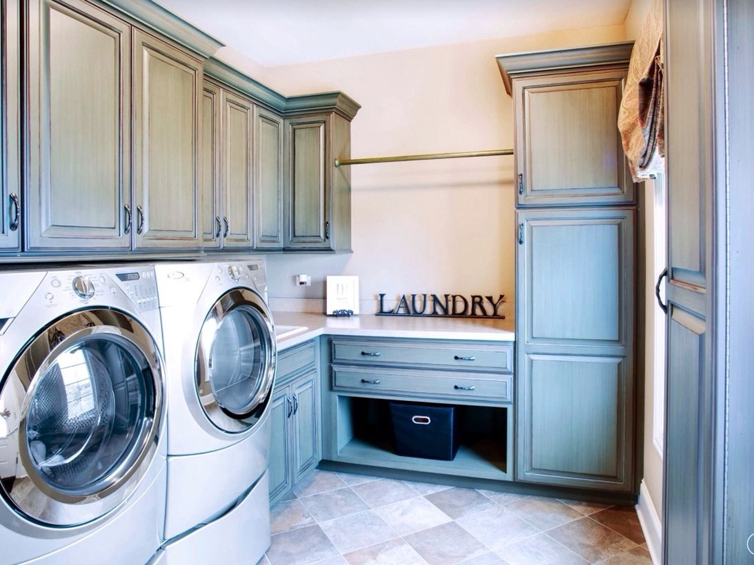 Laundry room with gray cabinet ideas