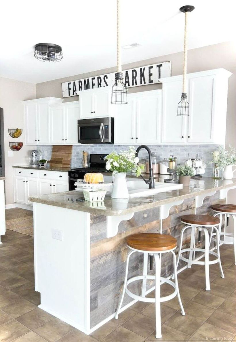 Light-grey-countertop-and-black-sink