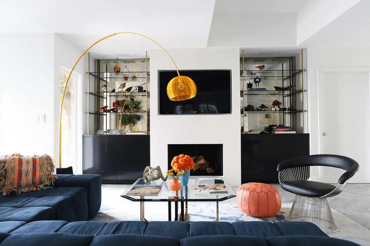 Modern-gold-floor-lamp-to-provide-good-lighting-in-your-living-room