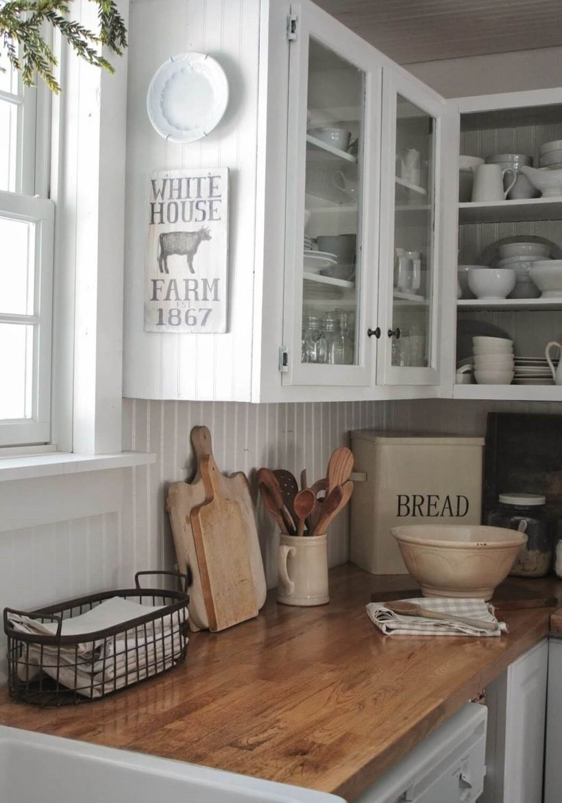 Natural-wooden-countertop-for-small-kitchen