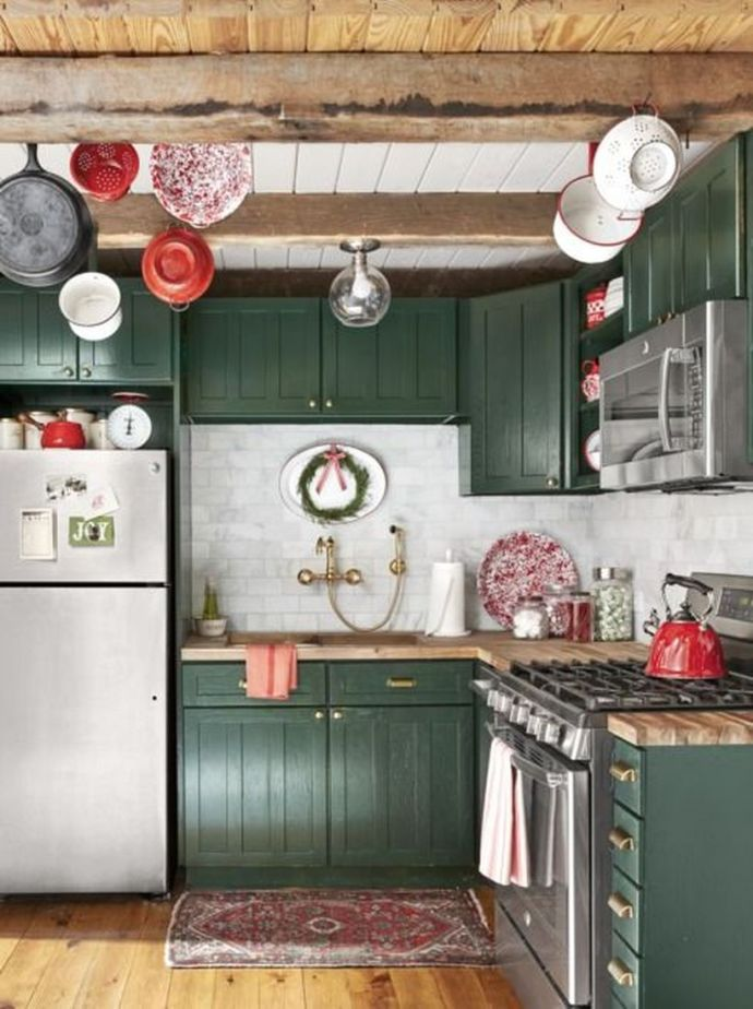 Rustic-kitchen-design-with-a-roof-made-from-thick-pieces-of-wood-can-be-used-for-cooking-utensils-and-wooden-vinyl-flor