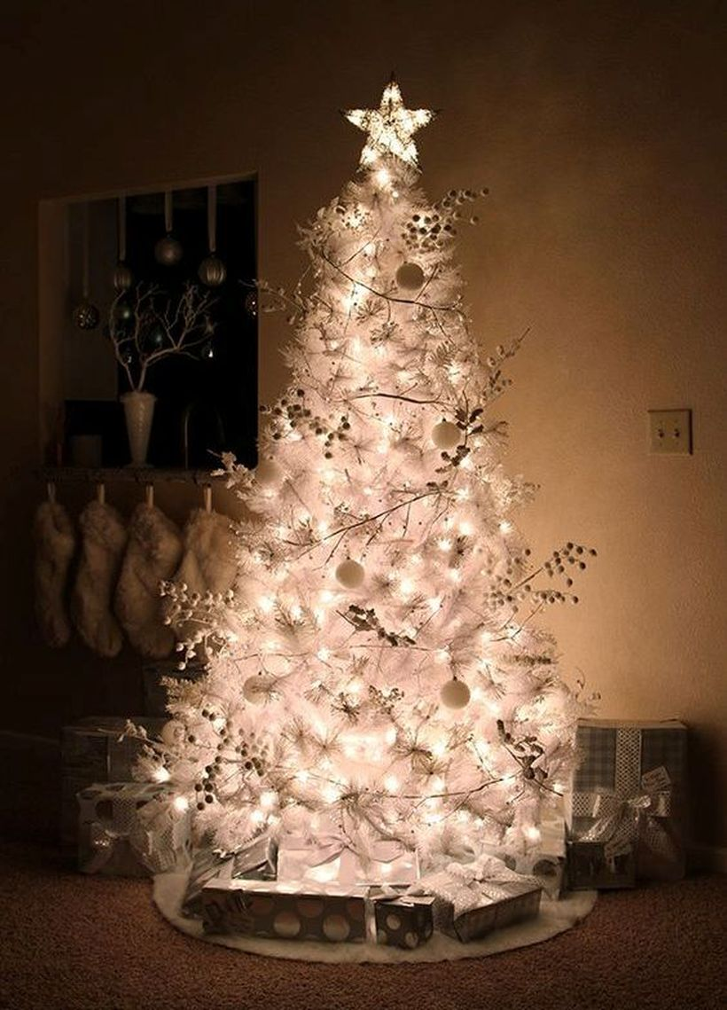 White-christmas-tree-with-ball-ornament-and-decorative-lighting-for-your-living-room