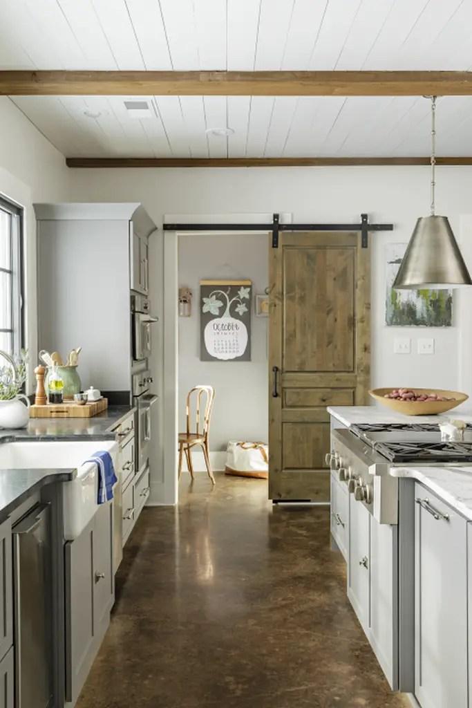 Classic kitchen with granite floor
