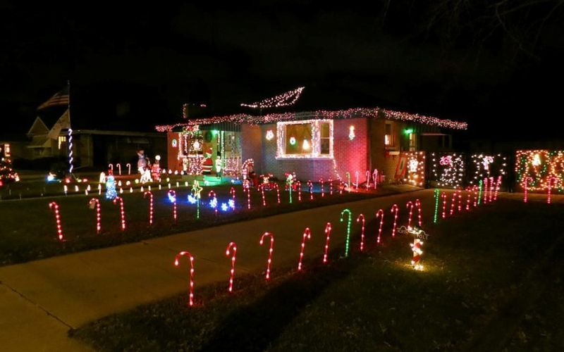 Decoration-this-christmas-with-a-candy-cane-lane-decoration-for-front-yard.
