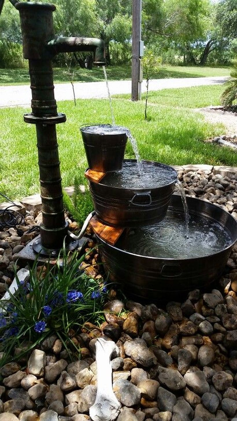 Galvanized-water-trough-fountain-
