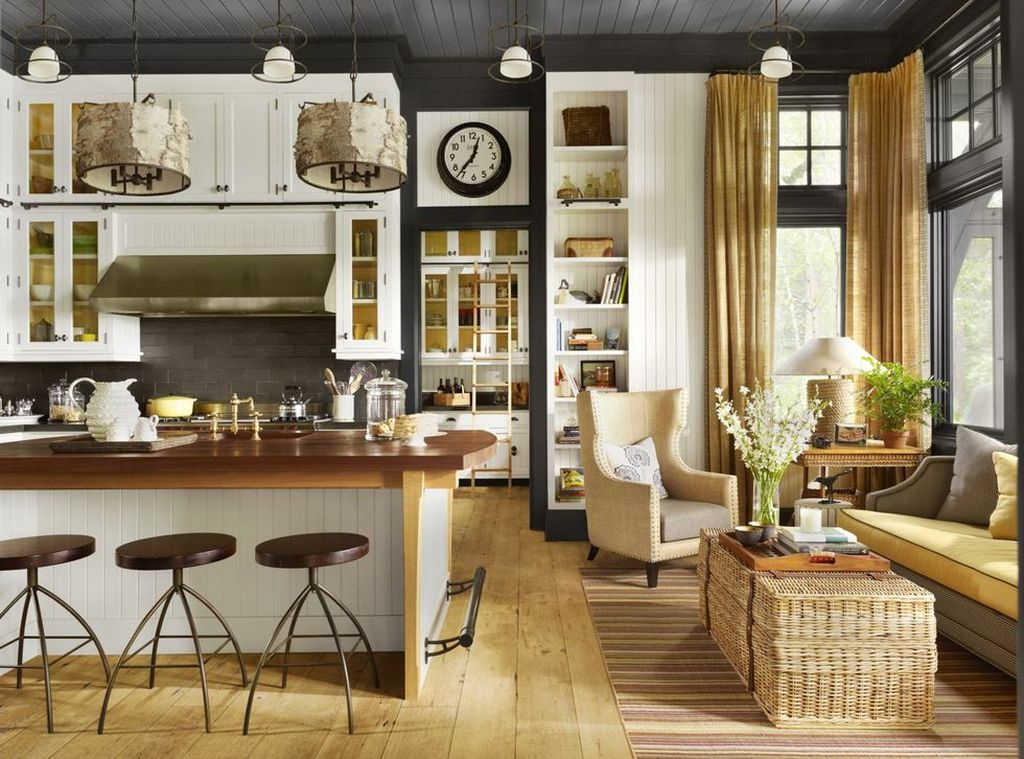 Rustic kitchen design with handcrafted and woven accents