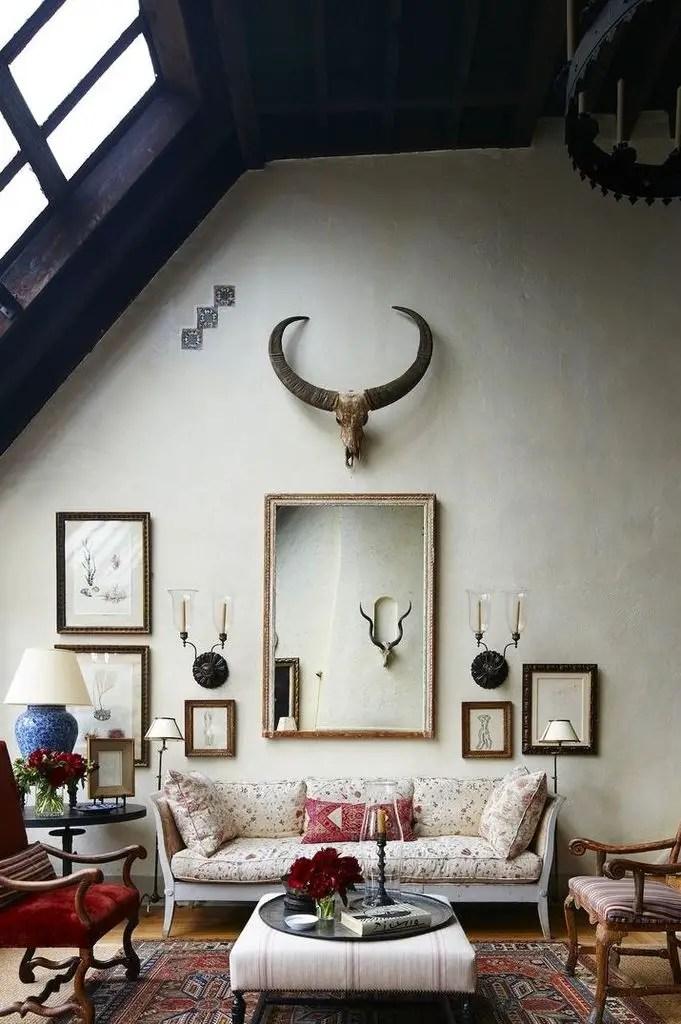 Rustic living room decoration