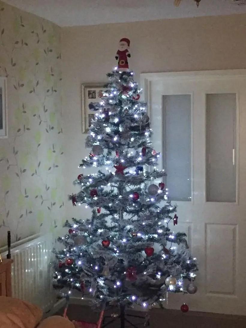 Small chrismast tree with white light