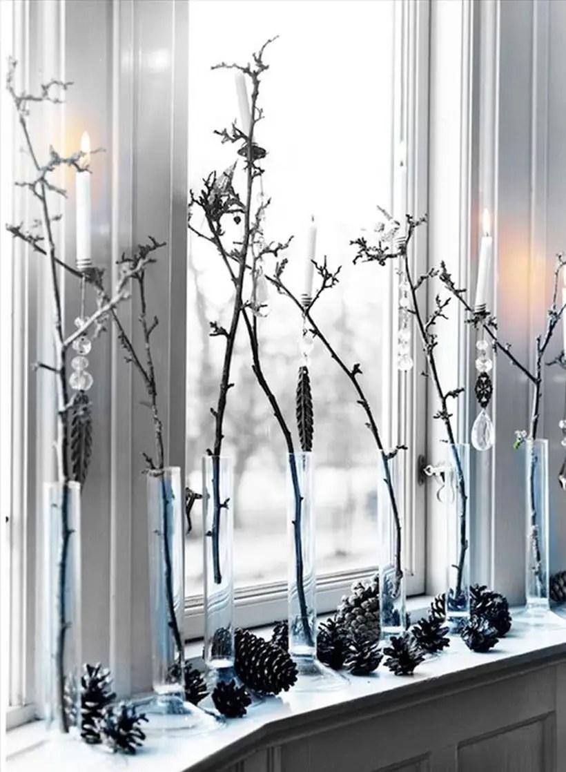 Twig tree decoration with light