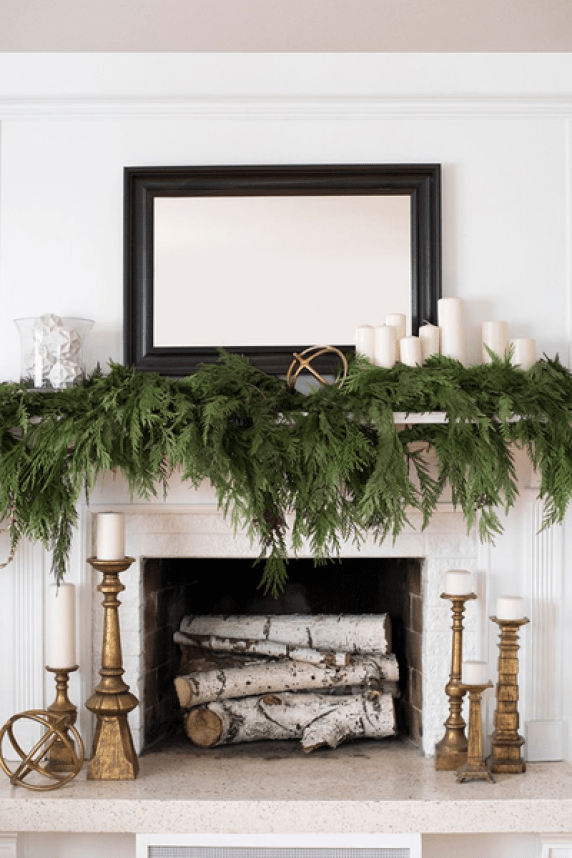 When-the-winter-months-are-over-toss-the-greenery-and-youll-have-a-beautiful-mantel-arrangement-to-take-you-into-spring.